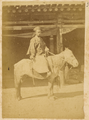 A Chinese Government Officer, Head of Cantonment of Cavalry, in Official Uniform on His Horse. Hubei Province, China, 1874 WDL4139.png