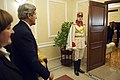 A Member of a Moldovan Honor Guard Welcomes Secretary Kerry to the Moldovan Presidential Residence (11212057563).jpg