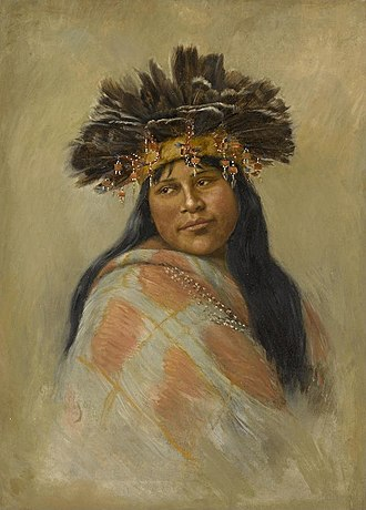 Indigenous peoples of California - A Pomo dancer by Grace Hudson