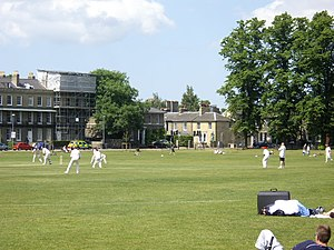 Cambridge University Cricket Club - Image: A cricket match on Parker's Piece geograph.org.uk 1333315