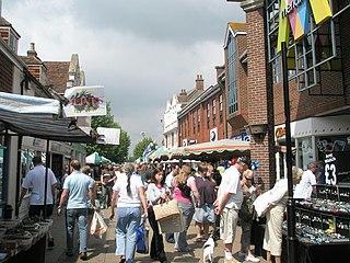 Havant town in Hampshire