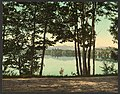 A glimpse of Mirror Lake, Adirondack Mountains-LCCN2008679631.jpg