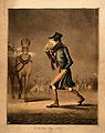 A man covering his mouth with a handkerchief, walking throug Wellcome V0010880.jpg