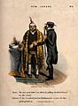 A misunderstanding between doctor and patient. Coloured lith Wellcome V0010947.jpg