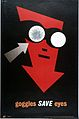 A red arrow wearing goggles, its right goggle cracked. Colou Wellcome L0026420.jpg