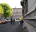 A sign of the times - a TCD Security Superintendent outside the Museum Building - geograph.org.uk - 1873028.jpg