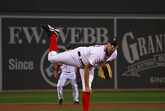 David Aardsma - Aardsma pitching for the Boston Red Sox in 2008