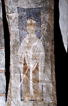 Absalon på samtidig maling fra Stehags kirke