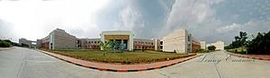 Birla Institute of Technology and Science, Pilani – Hyderabad Campus - A panorama of the Academic Block