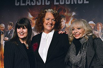 Louise Jameson - Sophie Aldred, Louise Jameson and Katy Manning at a Doctor Who 50th Anniversary event in 2013