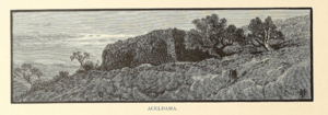 Akeldama - The monastery at Aceldama in the 1870s, from Picturesque Palestine