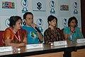 Actor Tushar Dalvi and actress Asavari Joshi of Marathi film 'Tandala – Ek Mukhavata' at a press conference, during the 39th International Film Festival (IFFI-2008), in Panaji, Goa on November 26, 2008.jpg
