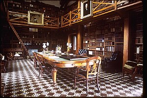 Peacefield - Interior of the Stone Library, a separate structure from the rest of the home