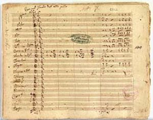 Vincenzo Bellini - Adelson e Salvini: autograph of the score