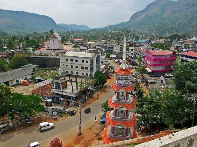 Aerial view of Adimaly town