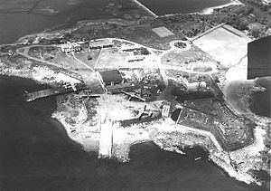 Coast Guard Air Station Salem - Aerial view of CGAS Salem, 1952