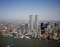 Aerial view of New York City, in which the World Trade Center Twin Towers is prominent LCCN2011632552.tif