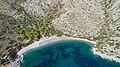 Aerial view of Nikolaos Beach Hydra (30997459888).jpg