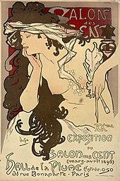 les femmes d'Alphonse Mucha dans FONDATEURS - PATRIMOINE 170px-Affiche_Salon_des_Cents_1901