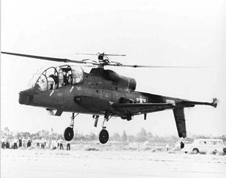 Lockheed AH-56 Cheyenne - Three-quarter view of AH-56 Cheyenne.