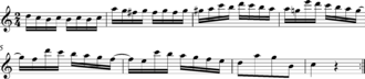 Variation (music) - Ah je vous dirai maman Var 1