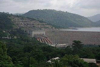 Akosombo - Akosombo Dam in Eastern Region as seen from the Volta Hotel