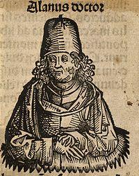 Alanus de Insulis (Alain de Lille). Woodcut. Wellcome V0000079.jpg