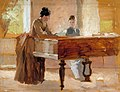 Albert Edelfelt - In the Drawing Room at Haikko, study for An Old Tune - A III 1977 - Finnish National Gallery.jpg