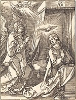 Albrecht Dürer, The Annunciation, probably c. 1509-1510, NGA 6753.jpg