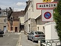 Alençon (Orne) city limit sign.jpg