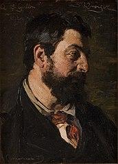Portræt af den franske maler Alfred Guillou