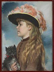 Portret córki Heleny z pieskiem