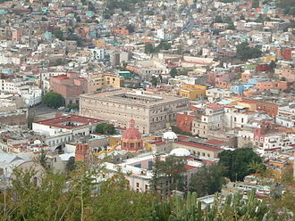 Mexican Army - Guanajuato. At center: the Alhóndiga de Granaditas
