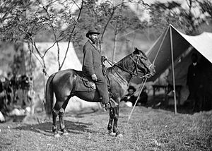 Allan Pinkerton - Pinkerton on horseback on the Antietam Battlefield in 1862