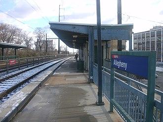 Allegheny station (SEPTA Regional Rail) - Allegheny station in December 2012.