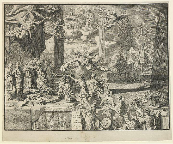 Allegorische Darstellung auf den Frieden von Aachen