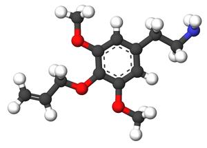 Allylescaline - Image: Allylescaline 3d sticks