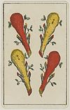 Aluette card deck - Grimaud - 1858-1890 - Four of Clubs.jpg