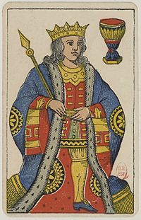 Aluette card deck - Grimaud - 1858-1890 - King of Cups.jpg
