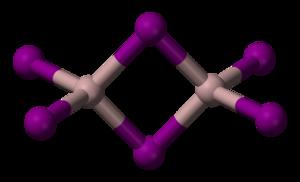 Aluminium iodide - Image: Aluminium iodide 3D balls