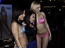 Amara Romani, Miss Jae Lee and Tiffany Watson at AEE16 (25034006504).jpg