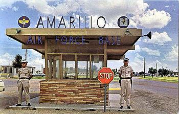 Amarillo Air Force Base - Front Gate - Postcard