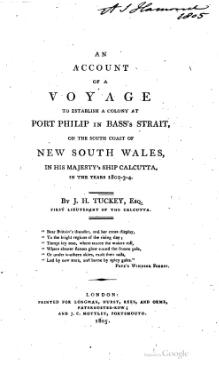 An account of a voyage to establish a colony at Port Philip in Bass's Strait.djvu