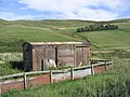 An old railway goods waggon now used for animal feed storage - geograph.org.uk - 236276.jpg