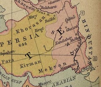 Greater Khorasan - Names of territories during the Caliphate in 750