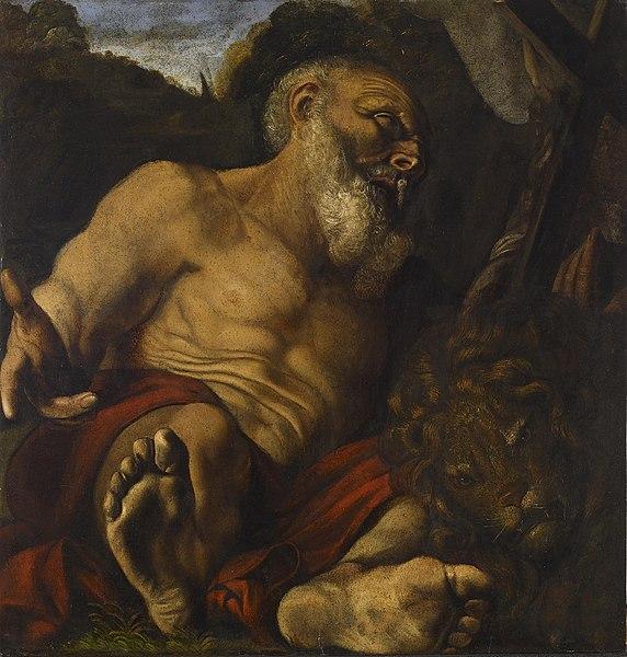 File:Angelo Caroselli - Saint Jerome in the Wilderness - Walters 371910.jpg