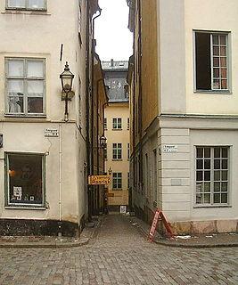 Ankargränd alley in Gamla stan, Stockholm, Sweden