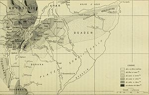 "Banadir - Map showing the historical location of the ""Benadir"" in Somalia coast"