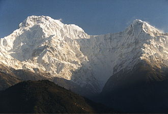 Hiunchuli - Annapurna South (left) and Hiunchuli (right) from the south