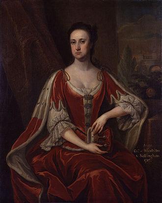 Daniel Finch, 2nd Earl of Nottingham - Portrait of Anne Hatton by Jonathan Richardson, circa 1726